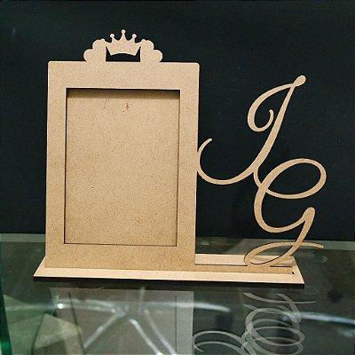 Porta Retrato com Com as Iniciais dos Noivos