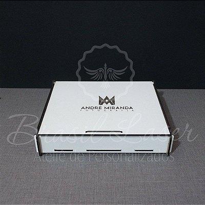 55 Caixinhas Em Mdf Branco Com Gravação Na Tampa Personalizada 19x12x4cm
