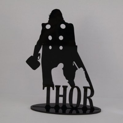 Topo De Bolo Temático (THOR) Marvel - 20cm (maior lado da peça) - Cor à Escolher