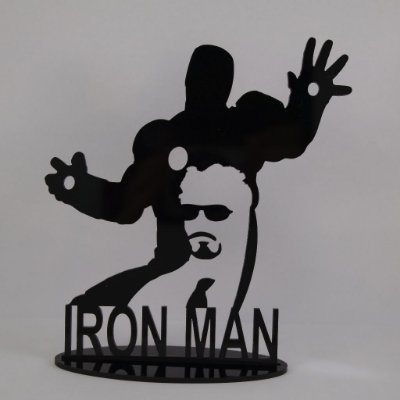 Topo De Bolo Temático (Homem de Ferro) Marvel - 20cm (maior lado da peça) - Cor à Escolher