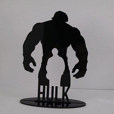 Topo De Bolo Temático (HULK) Marvel - 20cm (maior lado da peça) - Cor à Escolher