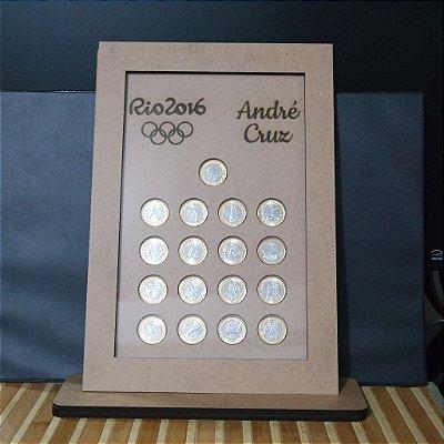 Quadro Para Moedas Olímpicas Personalizado