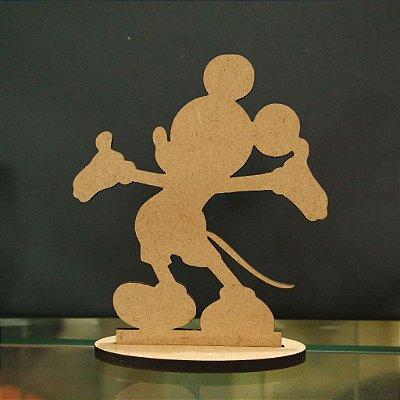 Topo De Bolo Temático Mickey - 20cm (maior lado da peça) - Cor à Escolher