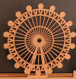 Silhueta da roda gigante de Londres com 40 cm de altura