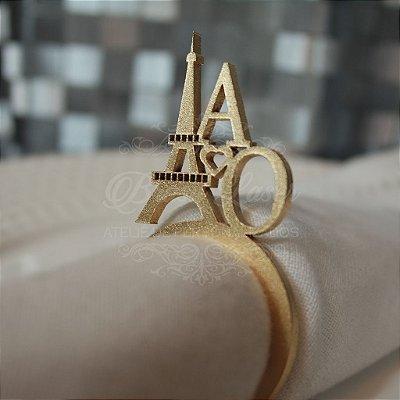 Argolas para Guardanapos / Porta Guardanapos PARIS Personalizadas com as Iniciais que o Cliente Desejar (Pintado e Não Pintado)