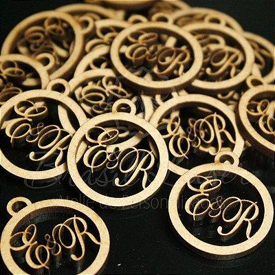 SUPER DESCONTO! Medalhas Para Bem Casados ou Bem Vividos em Mdf (Sem Pintura) com as Iniciais que o Cliente Desejar