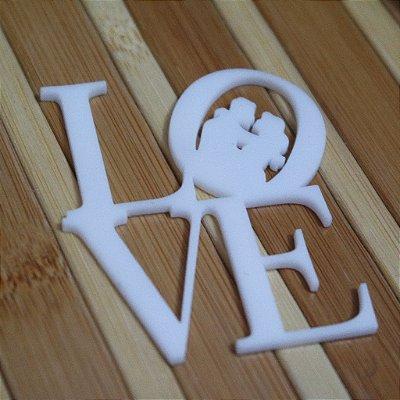 20 Tags Para Convites e Caixas  em Acrílico Branco LOVE