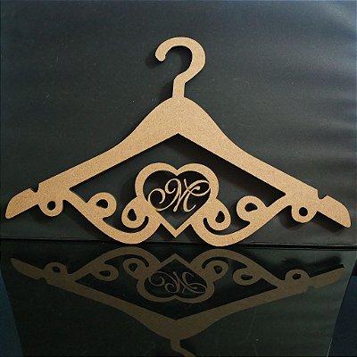 Cabide Com Iniciais - Personalizado com as Iniciais dos Noivos Casamento ou Debutante