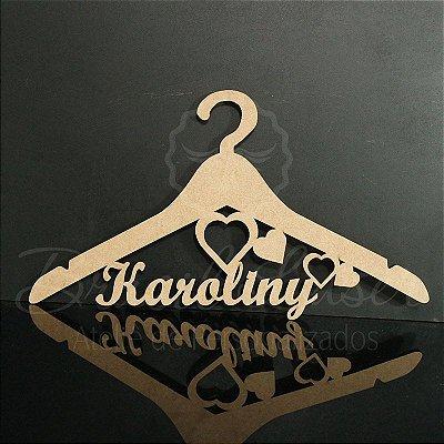 Cabide Coração Personalizado com os Nomes dos Noivos Casamento ou Debutante