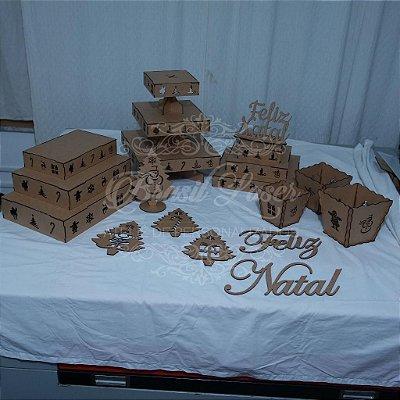Kit de Festas com Tema de NATAL (15 peças)