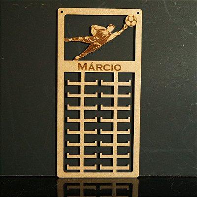 Novo Porta Medalhas Goleiro Futebol Personalizado Tamanho 29cmx60cm Aprox.80 Medalhas