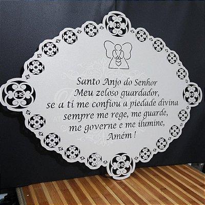 Placa com a Oração do Anjo da Guarda