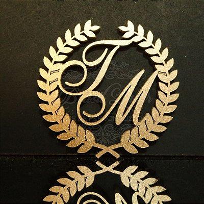 10 Tags Monogramas (Apliques) para Caixinha ou Convites com as Iniciais ou Nome que o Cliente Desejar - Selecionar Tamanho dentro do anuncio.