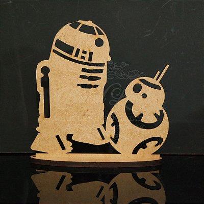 Topo De Bolo Star Wars com 14cm (maior lado da peça) - Cor à Escolher