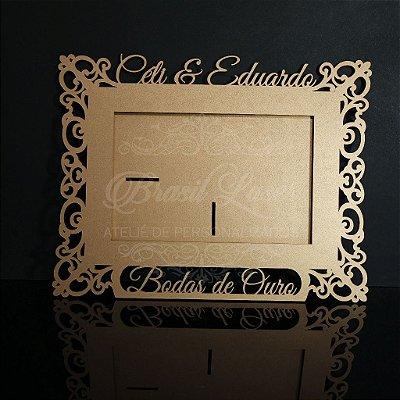 Porta Retrato Bodas de Ouro Personalizado com Opção de Quantidade e cores dentro do anuncio