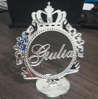 110 Topos de 7cm Altura Espelhado Prata - Brindes Para Convidados