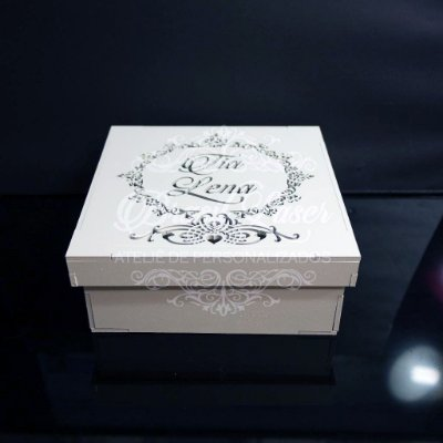 10 Caixinhas em Mdf  tamanho 15x15x5 Personalizada Pintada de Branco