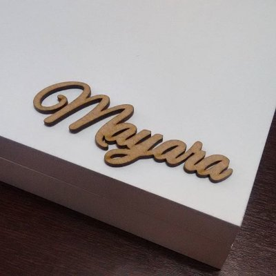 20 Tags Para Convites e Caixas Personalizadas em Mdf Pintado com as Iniciais que o Cliente Desejar