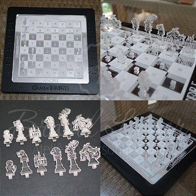 Tabuleiro de Xadrez Personalizado Série Lançamento Brasillaser