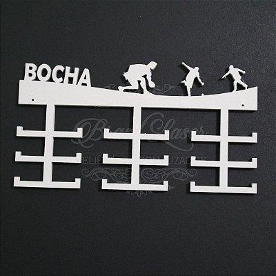 Porta Medalhas (Esporte: BOCHA) Personalizado Capacidade Aprox. 45 Medalhas Vários Materiais / Cores