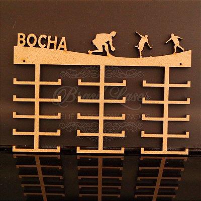 Porta Medalhas Grande Personalizado Esporte BOCHA Capacidade Aprox. 90 Medalhas Vários Materiais / Cores