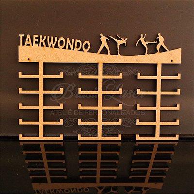 Porta Medalhas Grande Personalizado Esporte TAEKWONDO Capacidade Aprox. 90 Medalhas Vários Materiais / Cores