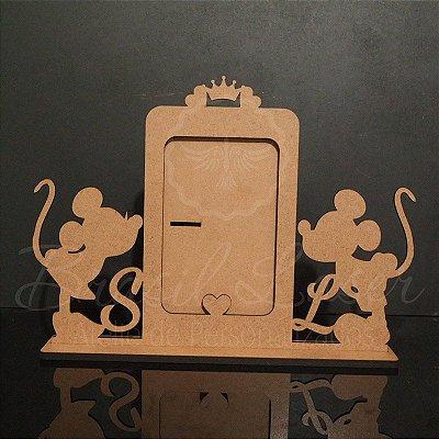 Porta Retrato Mickey e Minnie Personalizado (Opções de cores dentro do anuncio)