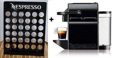 Cafeteira Nespresso Inissia Expresso Preta 110v + 1 Porta Capsula Preta Novos c/ Garantia Fabricante (Leia a Descrição)