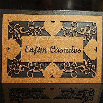 Placa para entrada da Noiva Pintada ou cru