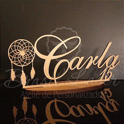 Topo de Bolo Filtro dos Sonhos  - Tamanho com 20 cm (maior lado da peça) - Cor à Escolher