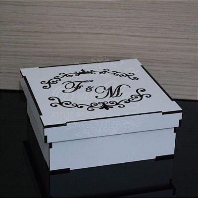 10 Caixinhas em Mdf Branco - Tamanho 15x15x5 Personalizada