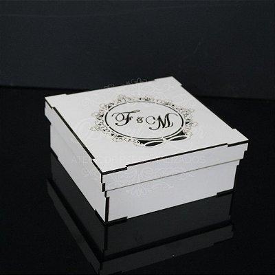 1 Caixinha em Mdf Branco - Tamanho 15x15x5 Personalizada