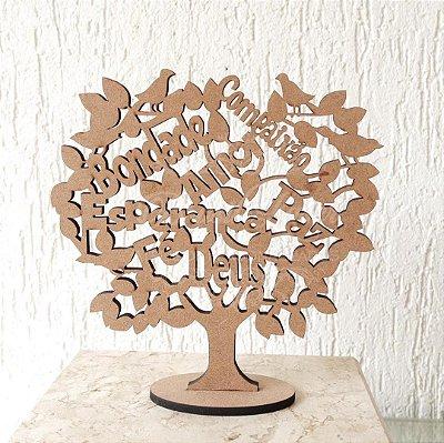 Árvore da Vida Com Palavras de Carinho e Amor 15cm Altura