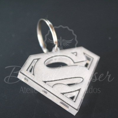 Chaveiros Superman Gravados em Acrílico 2mm Transparente - Escolha a Quantidade dentro do Anuncio