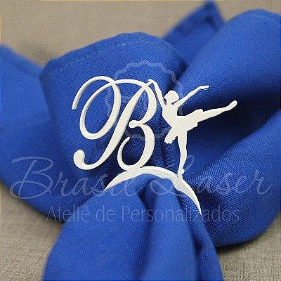 1 Porta Guardanapo Bailarina em Acrílico Personalizado - Escolha a Cor dentro do Anúncio - #Quantidade Mínima: 10 unidades iguais#
