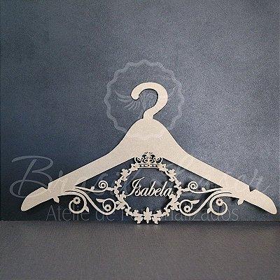Cabide com Brasão - Personalizado com o Nome, Nome da Debutante ou Noivos Casamento