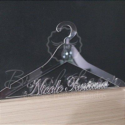 Cabide Personalizado com o Nome da Debutante ou Noiva