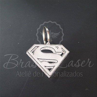 1 Chaveiro para Lembrança Superman com Gravação a laser (Minimo 10 unidades por pedido) - Selecionar Material/cor dentro do anuncio