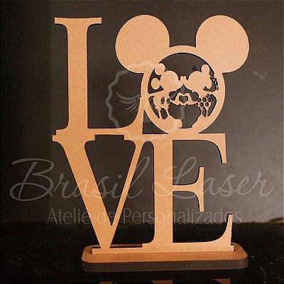 10 ou 15 Unidades - Centro de Mesa LOVE Minnie e Mickey (Não Personalizado) - Opções de Quantidade e Cor dentro do Anuncio