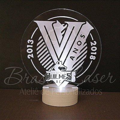 Topo de Led Premium com Acrílico Grosso Iluminado com Logomarca - Veja opções de Tamanho no Anúncio