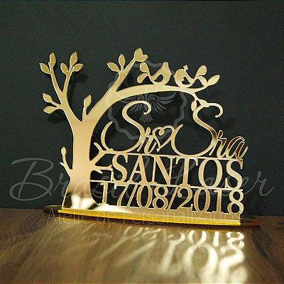 Topo De Bolo Passarinhos - Tamanho com 20cm (maior lado da peça) - Cor à Escolher