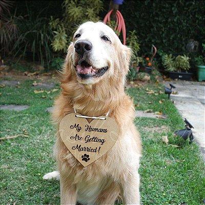 Plaquinha / Placa para colocar no Cachorro - Com a Frase Personalizada escolhida pelo cliente