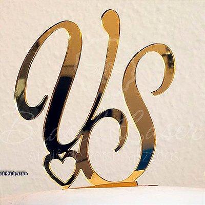 Topo De Bolo  - Tamanho com 14 cm (maior lado da peça) - Cor à Escolher