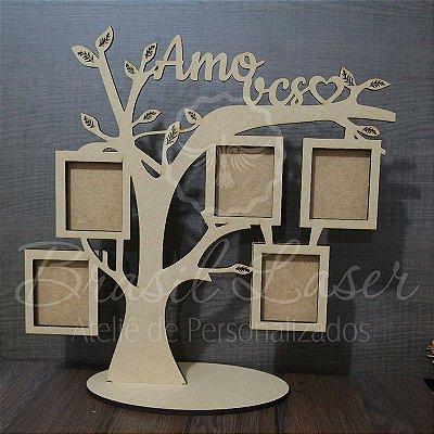 Porta Retrato Árvore para 5 Fotos Personalizado - Selecionar dentro do anuncio Opção de Pintado ou sem pintura