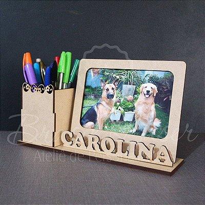 Porta Lápis e Canetas Personalizado em mdf - Opções de Pintado e sem pintura dentro do anunci