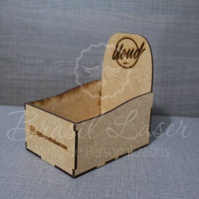 4 Expositores de Brownie / Alfajor / Palha Italiana / Cake / Pão de Mel com 13x9cm em Mdf com logomarca gravada