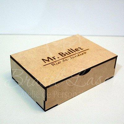 10 Caixinhas Em Mdf Com Gravação Na Tampa com Nome Personalizado 10cm x15cm x 5,8cm