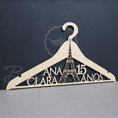 Cabide Paris Torre Eiffel - Personalizado com os Nomes dos Noivos Casamento ou Debutante