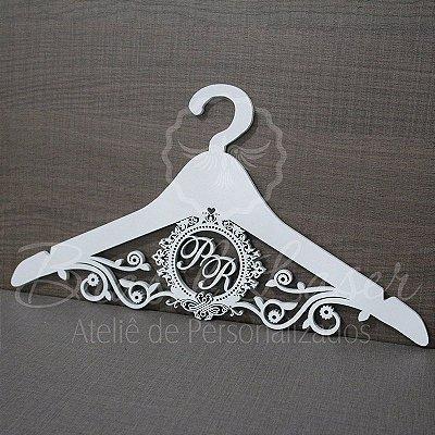 Cabide com Brasão - Personalizado com os Nomes dos Noivos Casamento ou Debutante
