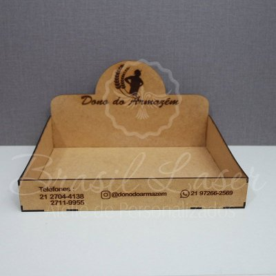4 Expositores de Brownie com 34x26x5cm em Mdf BRANCO com logomarca gravada